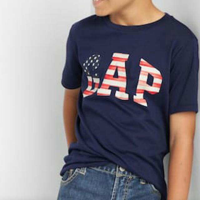 Gap Americana 美國國旗 大童上衣