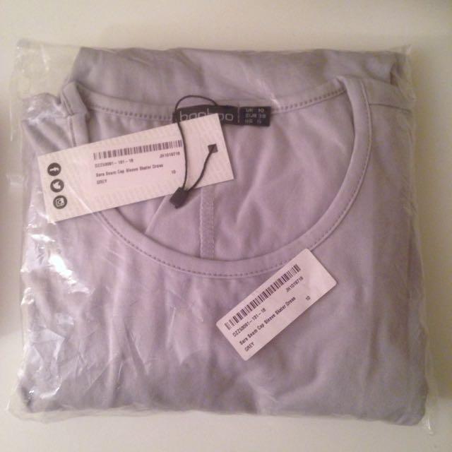 10 Grey Skater Dress Boohoo