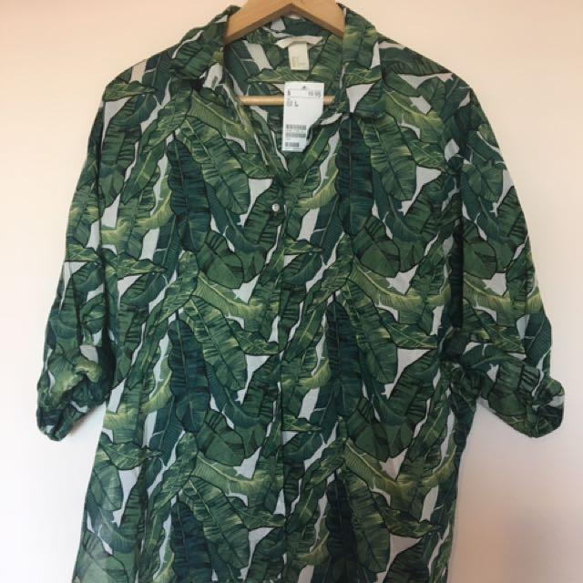 H & M Palm Leaf Shirt