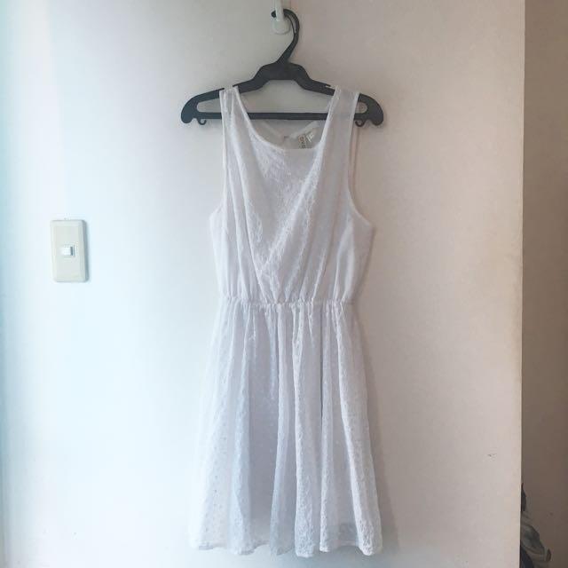 H & M White Dress
