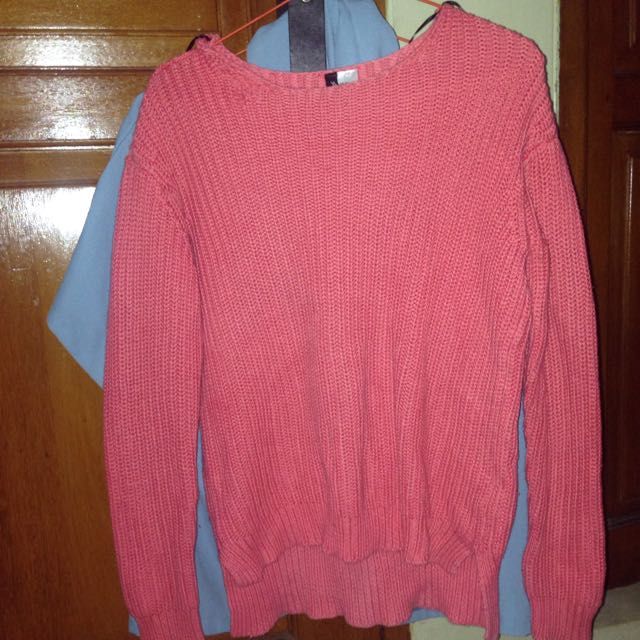 [REPRICED] H&M Knit Sweater (pink)