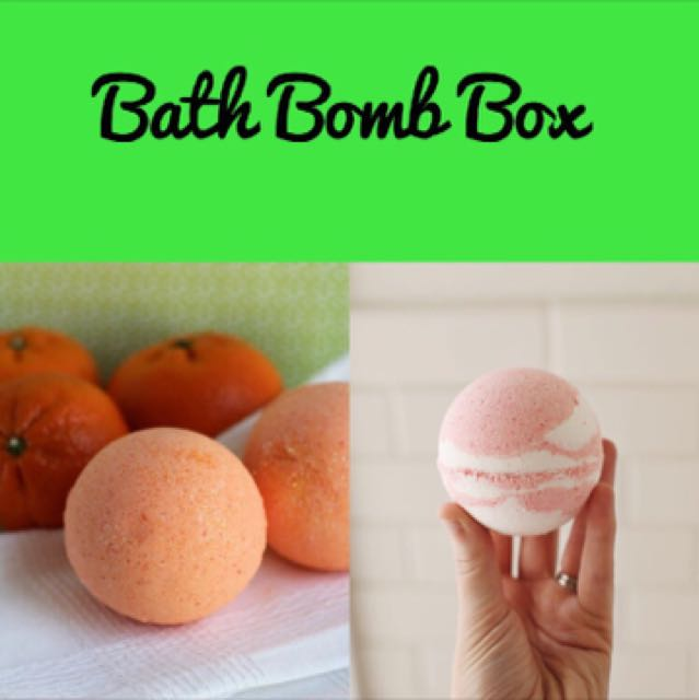 Homemade Bath Bomb Box