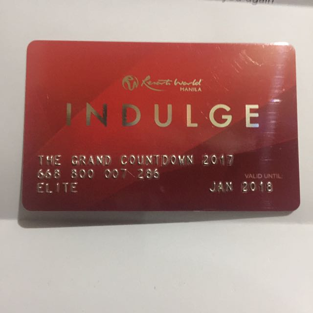 ‼️REPRICE‼️ 50% Off! Indulge Card Resorts World Manila