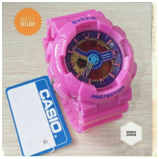 Jam Tangan Wanita Casio Baby-G Bga-110 Full Pink