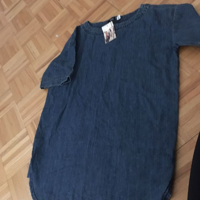 Jean T Shirt Dress From Urban Outfitters