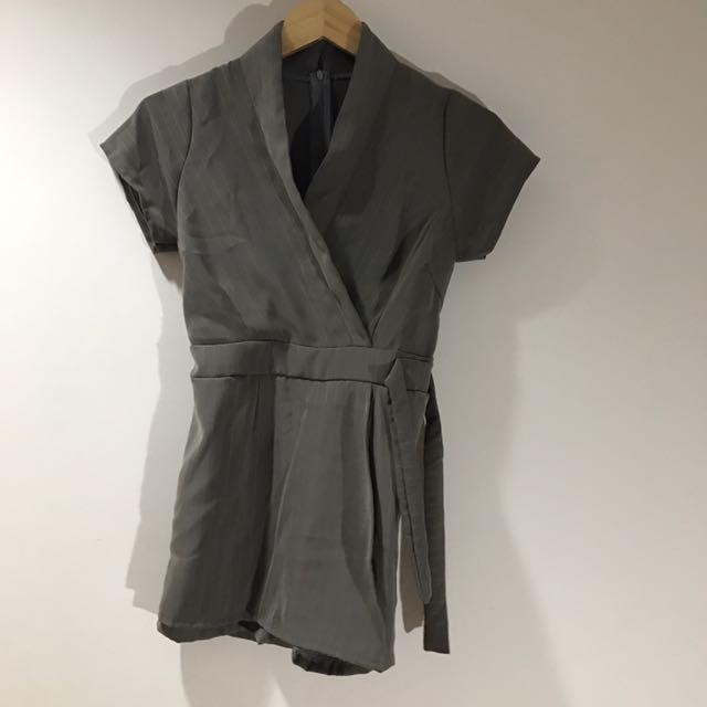 Kimono Jumpsuit In Grey