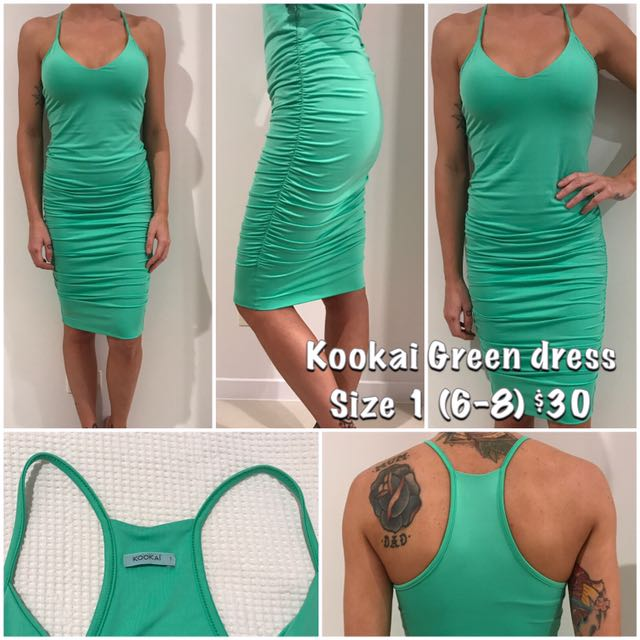 Kookai Green Dress Size 1