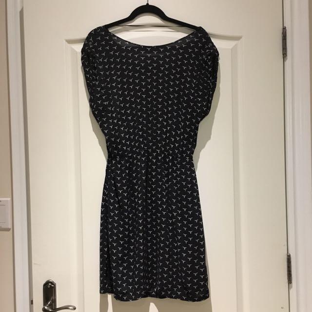 Levi's Print Navy Blue Dress