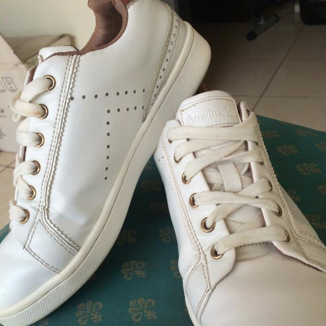 #LIKE A NEW! stradivarius women white sneaker