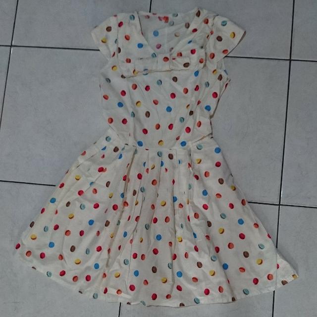 MACAROON FLARE DRESS