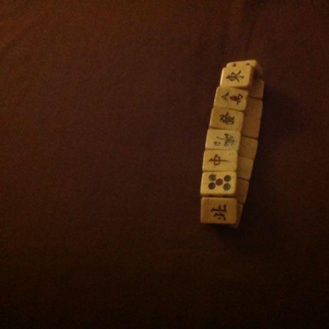 Mahjong Wooden Bracelet