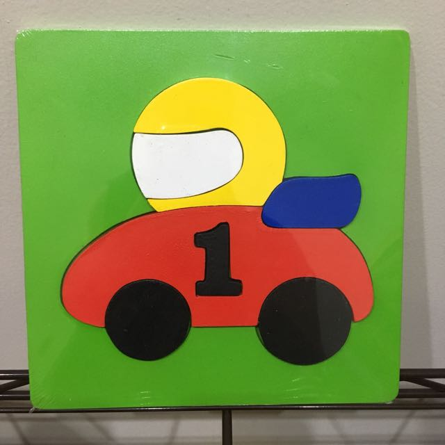 Mainan Kayu Puzzle Mobil