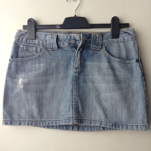 Mango Denim Mini Skirt