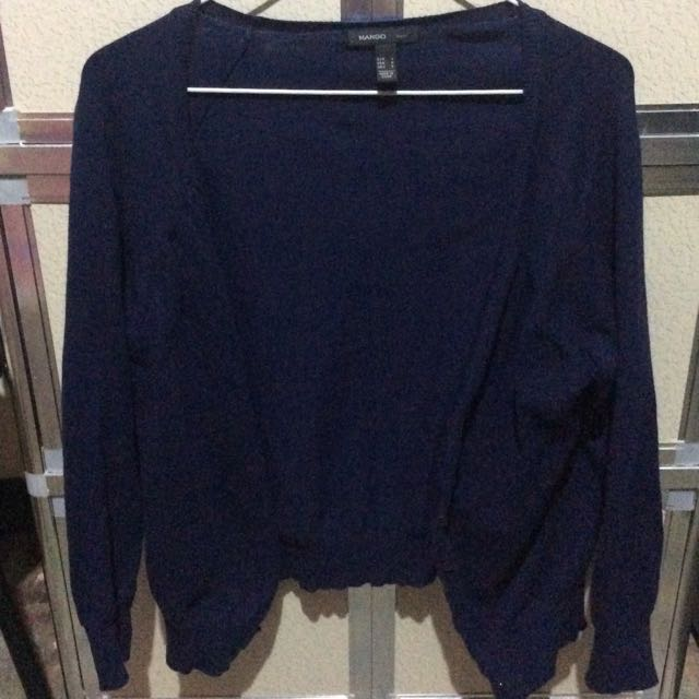 MANGO Midnight Blue Cardigan