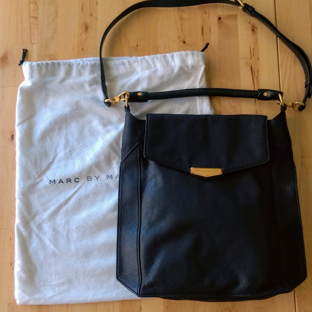 Price Drop - Marc By Marc Jacobs Belmont Hobo Bag | Black Leather w/gold Hardware | EUC