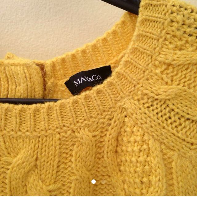 Max & Co Sweater Yellow