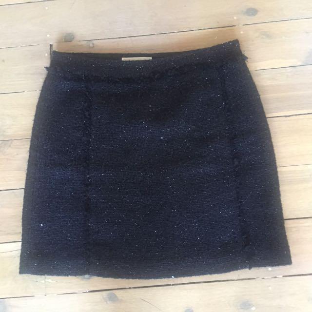 Michael Kors Black Boucle Skirt Size US4/AU8-10
