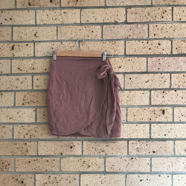 Mooloola Linen Wrap Skirt
