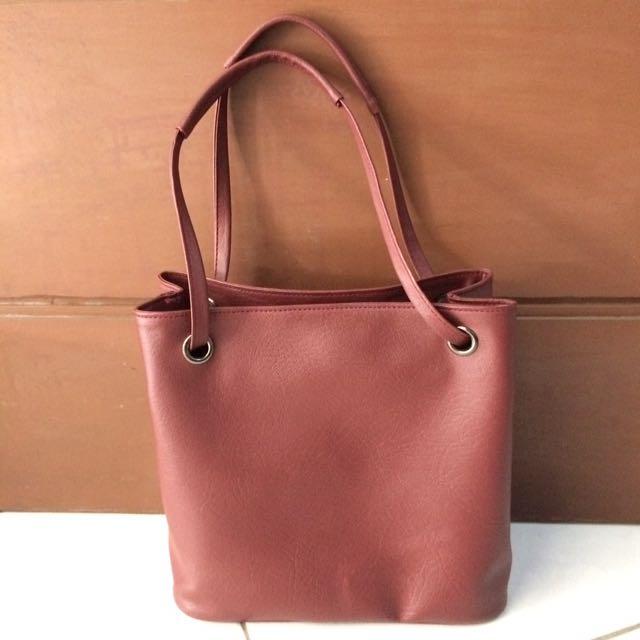 NEW! Mayonette Maroon Handbag