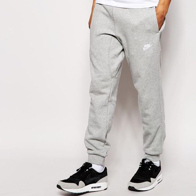 en soldes 74add d5fcb Nike AW77 Grey Cuffed Joggers