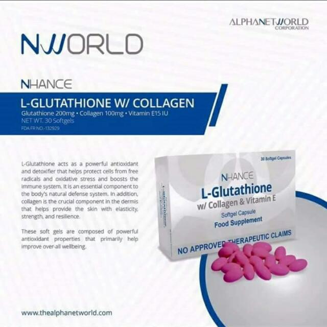 Nlighthen L-glutathione With Collagen