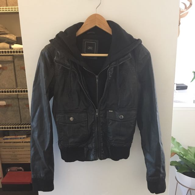 OBEY Vegan Leather Jacket