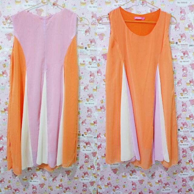 Orange happinest dress