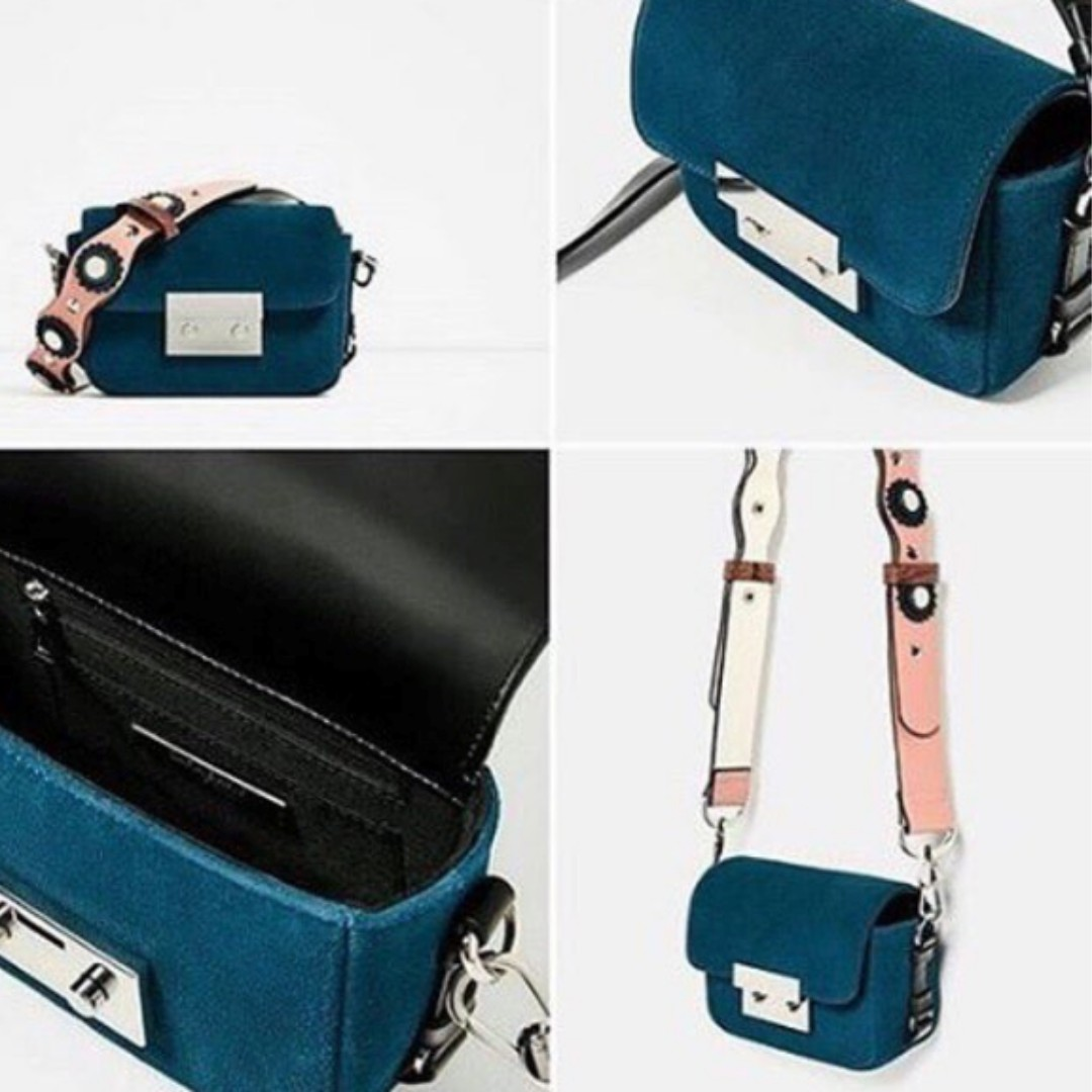 original zara bag double look mini leather crossbody