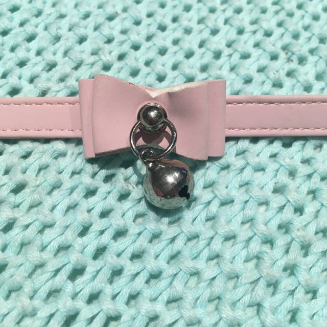 Pink Cat Collar with Bell