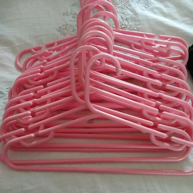 Pink Hangers 16 Total