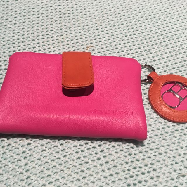 Pink Orange Charlie Brown Purse