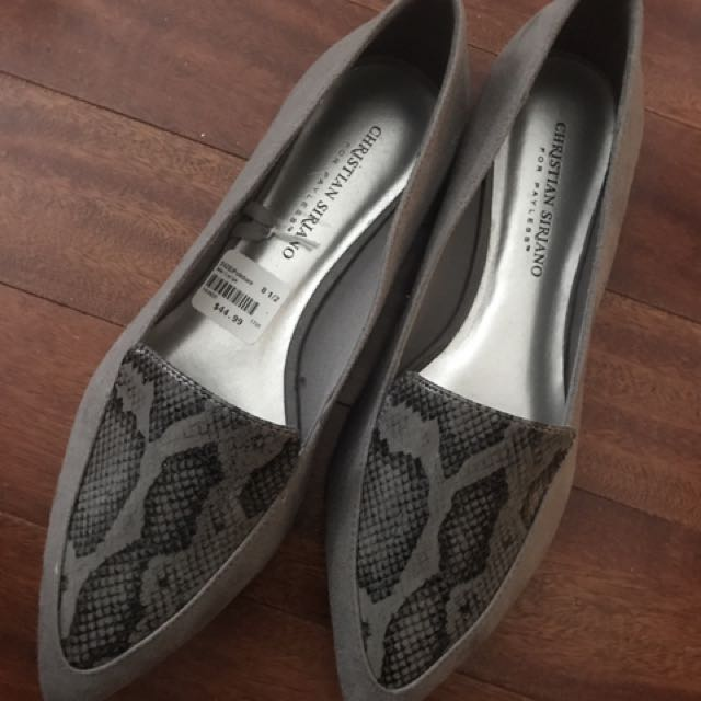 S 8.5 Christian Siriano For Payless Grey Flats