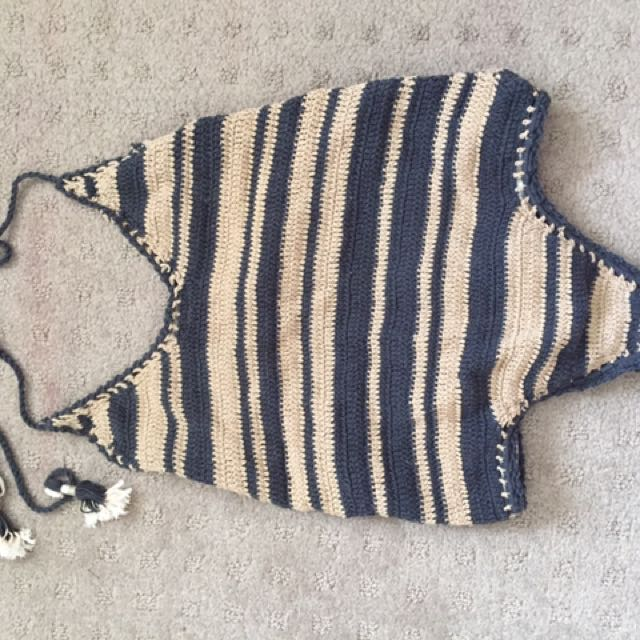 She Made Me - Crochet One Piece Swimsuit Size M-L