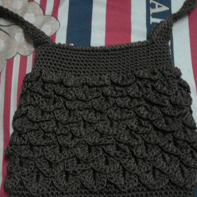 Shoulder Bag Knitted (Brown)