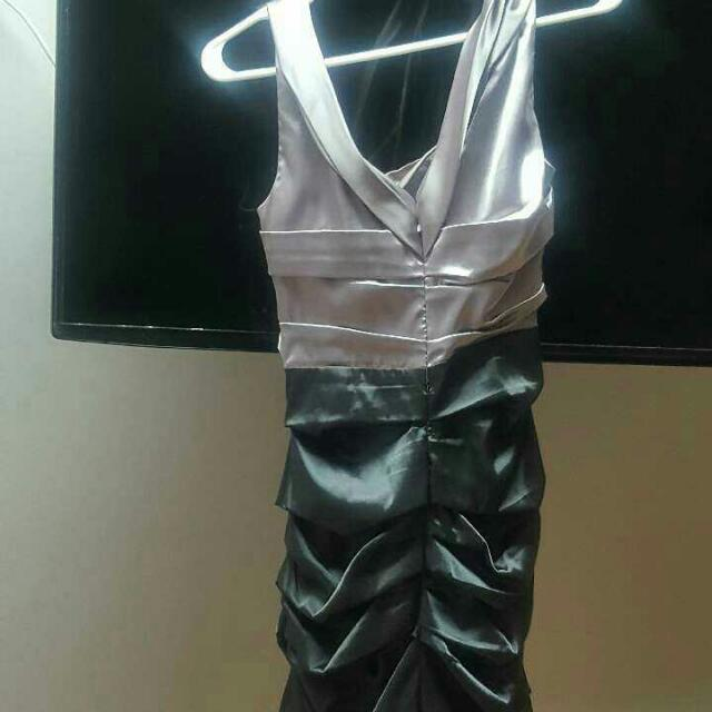 Silver & Grey Formal Dress