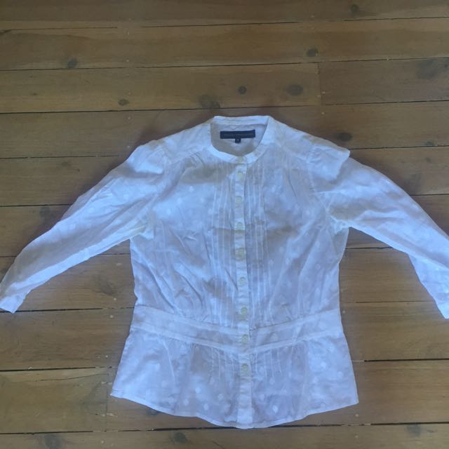 Size 10 French Connection White Shirt