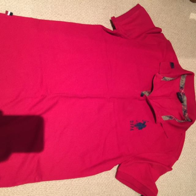 Size Medium Red Polo
