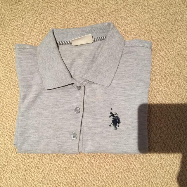 Size Small Polo Grey