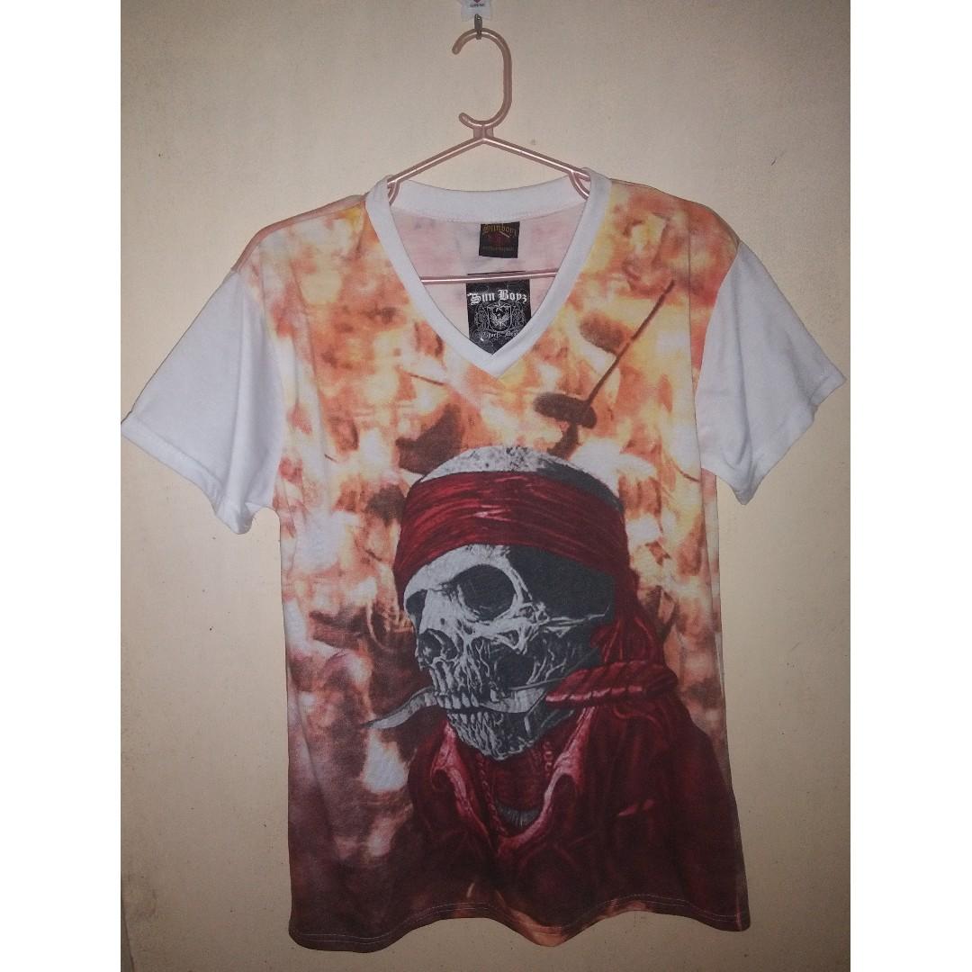 Skull-designed T-shirt