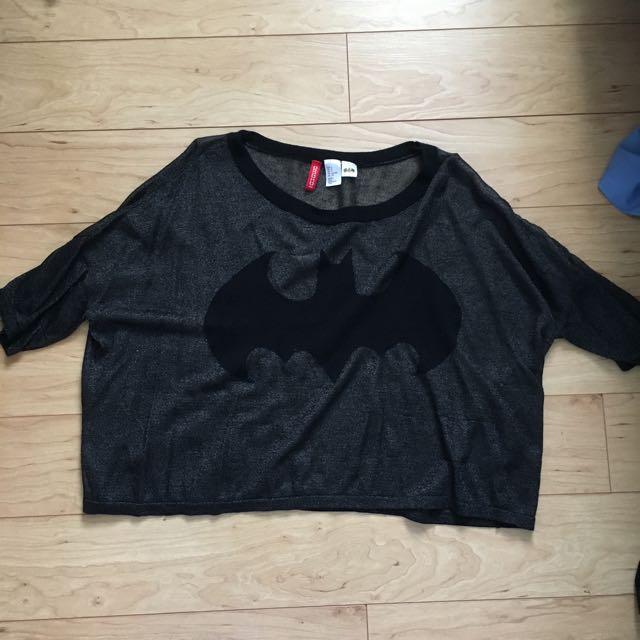 Slouchy Sheer Batman Shirt (Small)