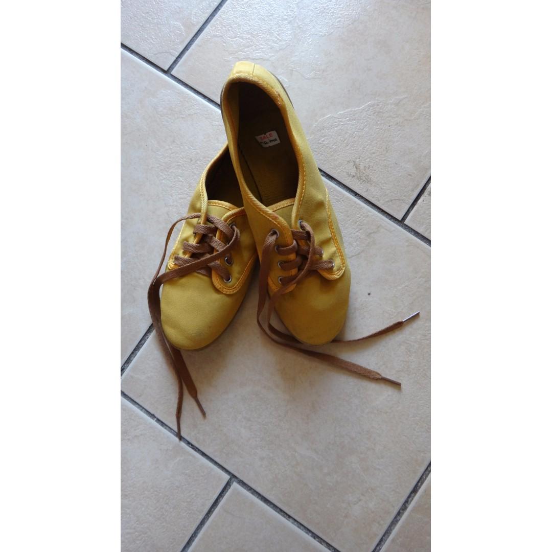 SM Kicks Mustard Sneakers