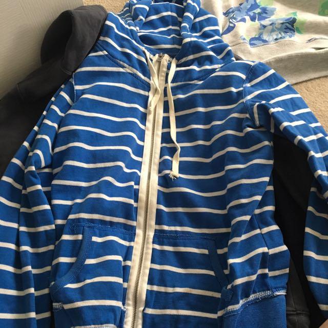 Striped Blue Hoodie