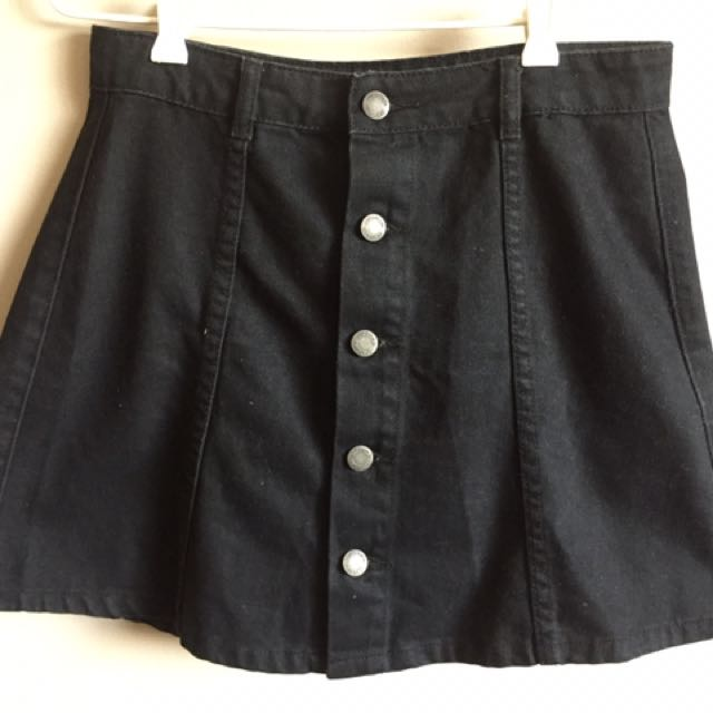 Subtitled Button Up A-Line Skirt Size 10