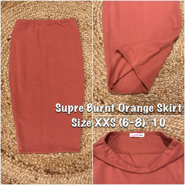 Supre Burnt Orange Skirt XXS (6-8)