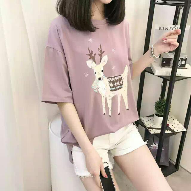 小鹿T恤 紫色