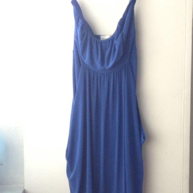 Tango Blue Strapless Dress