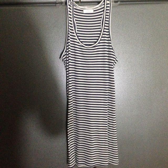 tank top mini dress stripes