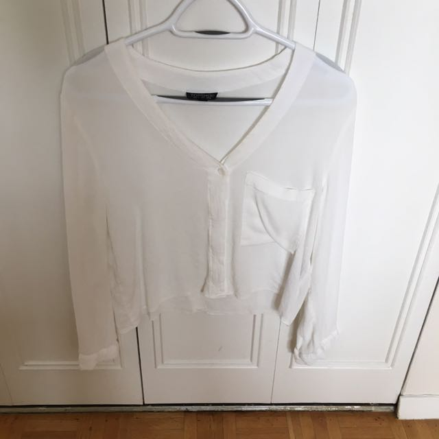 Topshop Blouse With Back Detail Size 8