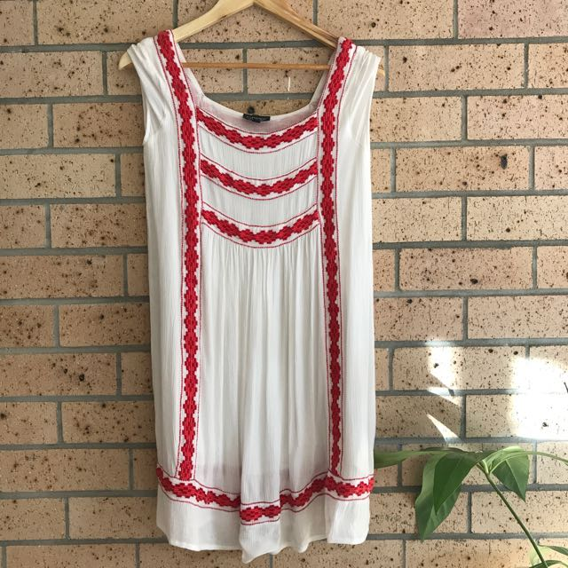 Topshop Boho Peasant Dress