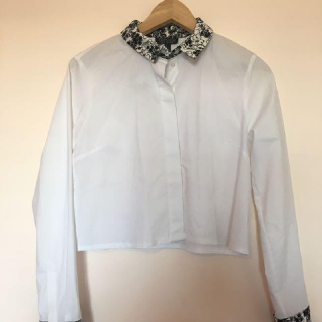 Topshop Crop Shirt